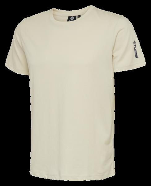 hummel HMLMILO Herren T-Shirt, Bone White