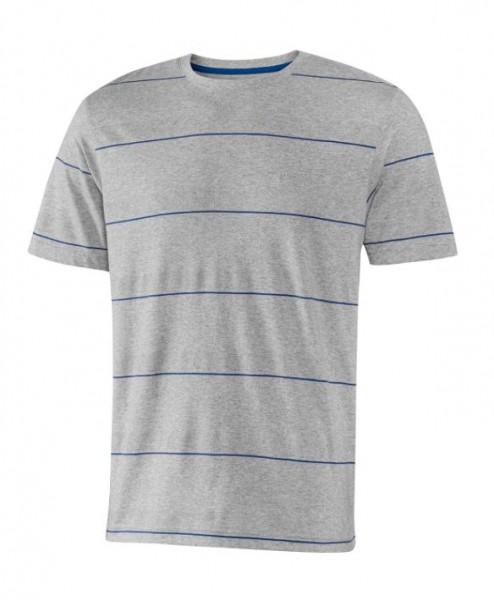 JOY sportswear EMIL Herren T-Shirt, Titan Melange/Kobalt gestreift