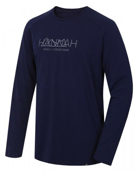 220-045-A3069 Hannah BANTAM Herren Langarmshirt, Black Iris
