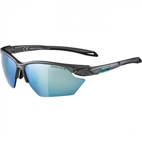 Alpina TWIST FIVE HR S CM+ Unisex Sportbrille, Tin Matt-Emerald