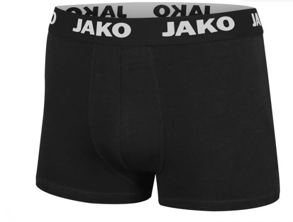 JAKO BASIC 2er PACK Herren Boxershort, Schwarz