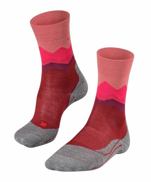 Falke TK2 CREST Damen Trekking Socken, Barolo