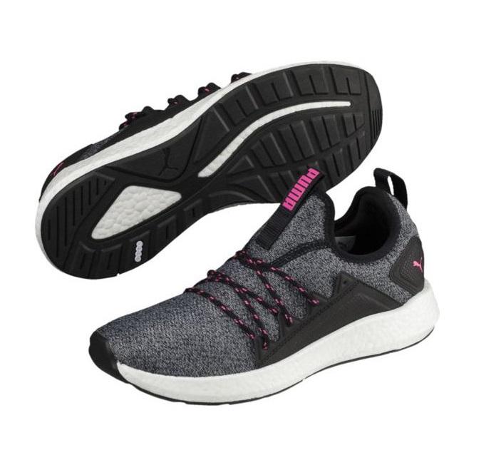 Details zu Puma NRGY NEKO KNIT WMNS Damen Running-/Laufschuh, Puma  Black/Knockout Pink (UVP